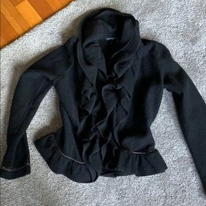 Boiled wool fitted jacket